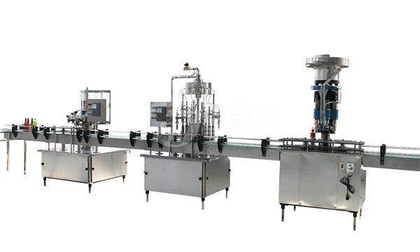 Máquina de enchido e etiquetaxe de botella de vidro de 1 litro