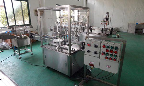 Máquina automática de recheo de líquidos de alta viscosidade