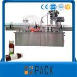 Máquina automática de recheo de líquidos con botella automática
