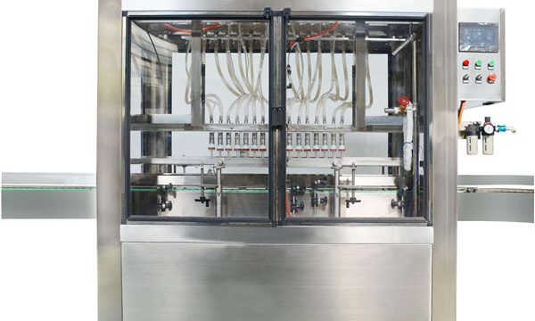 Máquina de recheo cosmética completa de 10 cabezas de crema automática completa