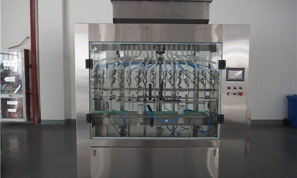 Máquina automática de recheo de líquidos a presión atmosférica de 12 cabezas