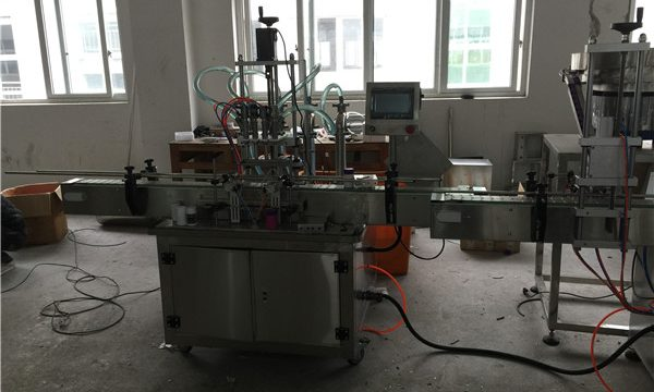 Máquina automática de recheo de líquidos de pistón 50ml a 1L