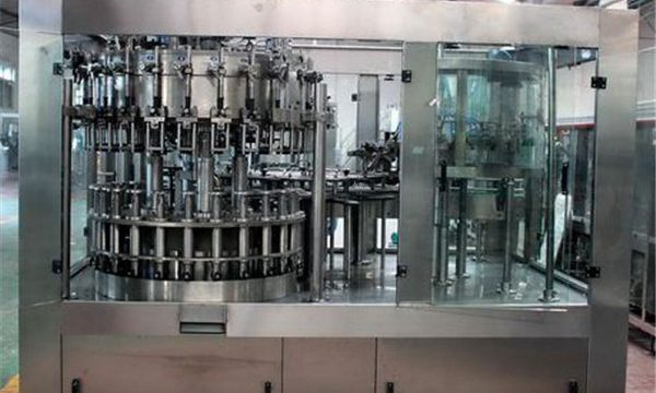 Máquina automática de recheo de líquido de aceiro inoxidable para aceite / auga purificada
