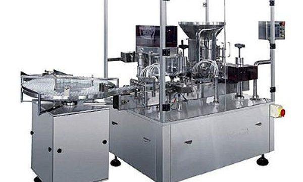 Máquina de recheo por inxección de po seco