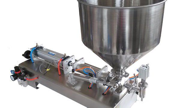Máquina de recheo de mel de bote de vidro de pistón semiautomático