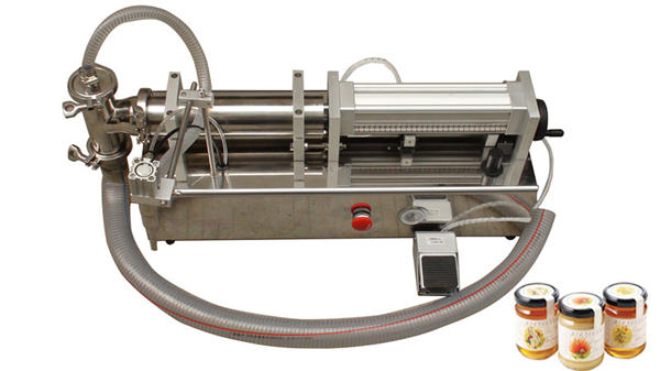 Máquina de recheo de mel líquido de alta viscosidade semi-automática