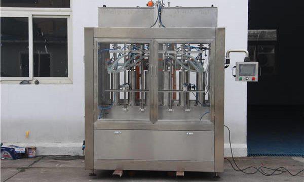 Máquina automática de recheo de botellas de mermelada