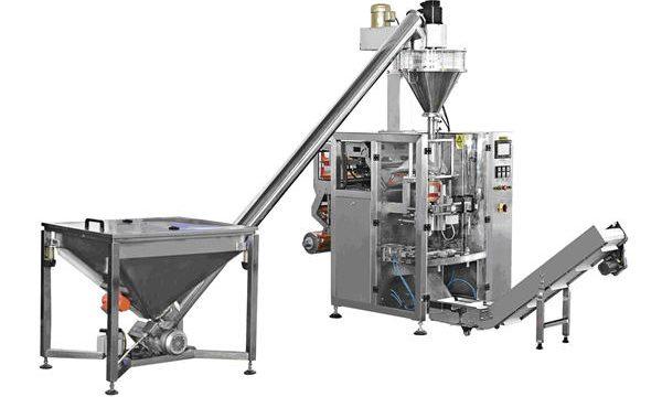 Máquina automática de recheo de po de alimentación en espiral