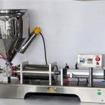 Máquina de recheo de salsa manual para latas