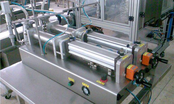 De boa calidade Máquina de recheo de champú líquido dobre boquillas