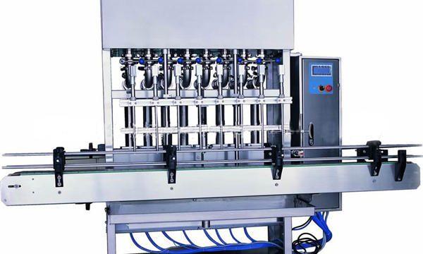 Máquina automática de recheo de deterxente para lavandería