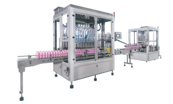 Máquina de recheo completo de xampú con deterxente de xabón líquido automático