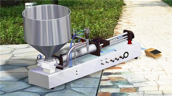 Máquina de recheo semiautomático de pasta de dentes vertical