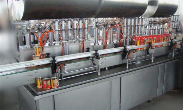 Máquina de recheo de pasta de chile integral de dobre cabeza