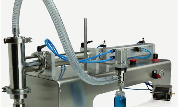 Novo deseño de máquina de recheo de pistón semiautomático de alta calidade