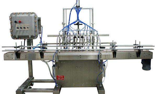 Máquina automática de recheo de líquidos con pistón 50ml-1L