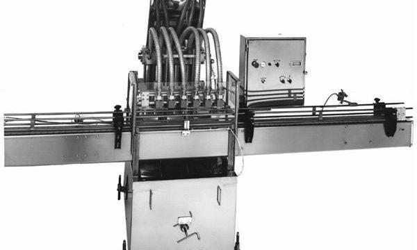 Máquina de recheo de aceite vexetal con pistón controlado por PLC