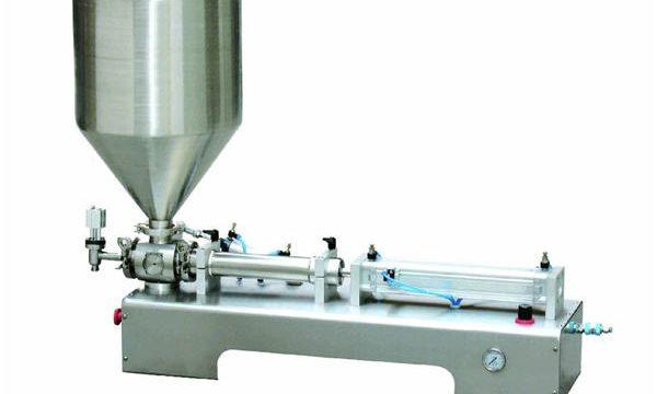 Máquina de recheo semiautomática de Calamina / Máquina de recheo do pistón de botella líquida
