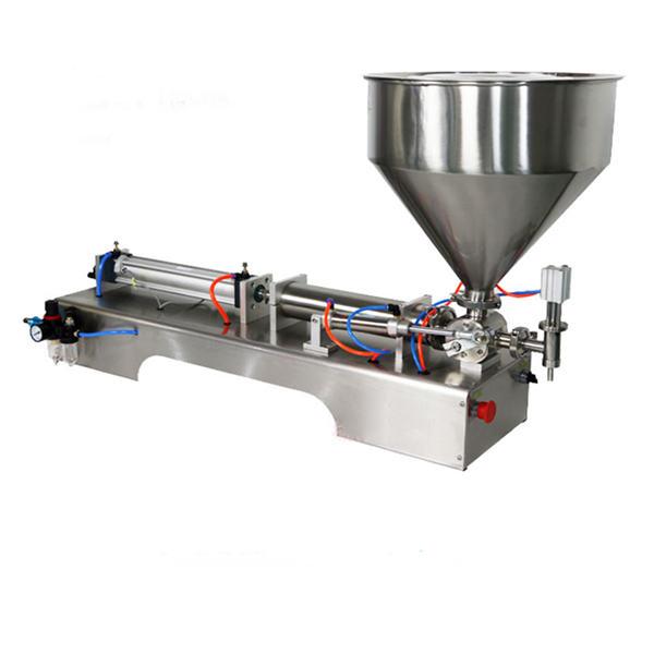 Máquina de recheo de salsa gruesa de pistón semiautomático